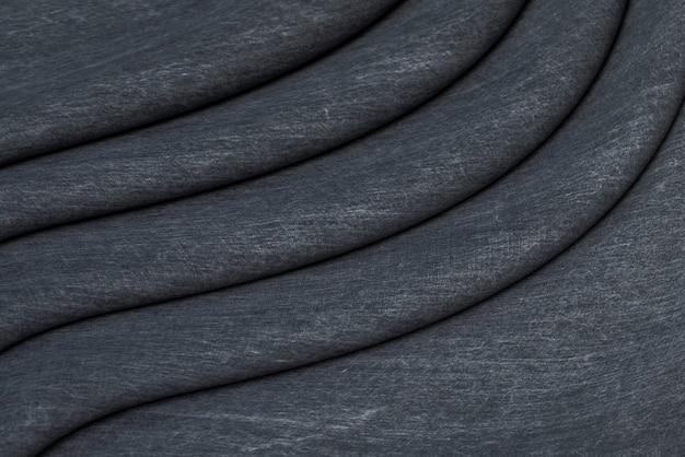 Fondo de tela de algodón gris oscuro