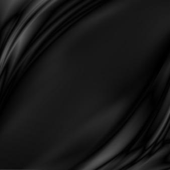 Fondo de tela de lujo negro con espacio de copia