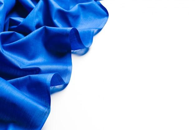 Fondo de tela de seda azul