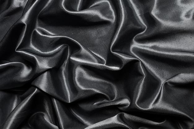 Fondo de tela de seda negra