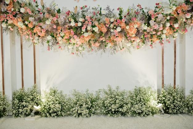 Fondo de telón de fondo de flor de la boda, fondo colorido, rosa fresca, manojo de flor