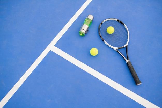 Fondo de tenis en azul