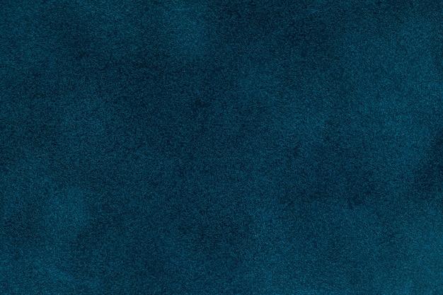 Fondo de terciopelo azul textilr, primer plano