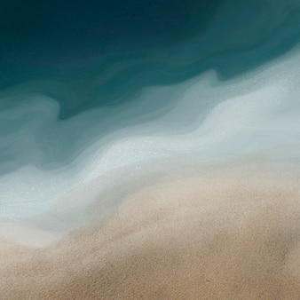 Fondo de textura de acuarela de arena y mar