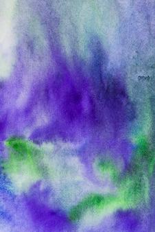 Fondo con textura acuarela azul y verde Foto gratis