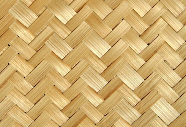 Fondo de textura de bambú tejido