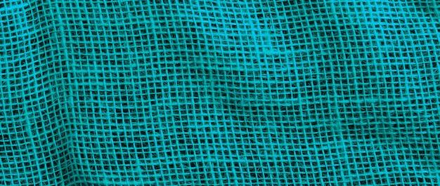 Fondo y textura de cilicio azul con costura de puntadas