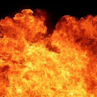 Fondo de textura de conflagración de llama de fuego de blaze en proporción cuadrada
