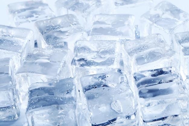 Fondo de textura de cubitos de hielo