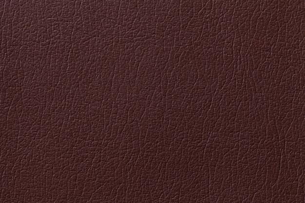 Fondo de textura de cuero marrón oscuro, primer plano