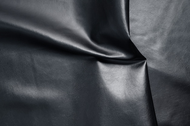 Fondo de textura de cuero negro abstracto