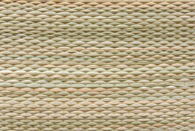 Fondo de textura de estera de caña. tejido cyperus difformis