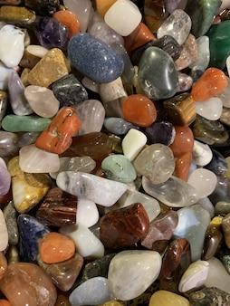 Fondo de textura de gemas multicolores