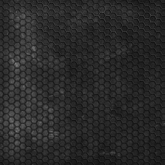 Fondo de textura grunge con patrón hexagonal