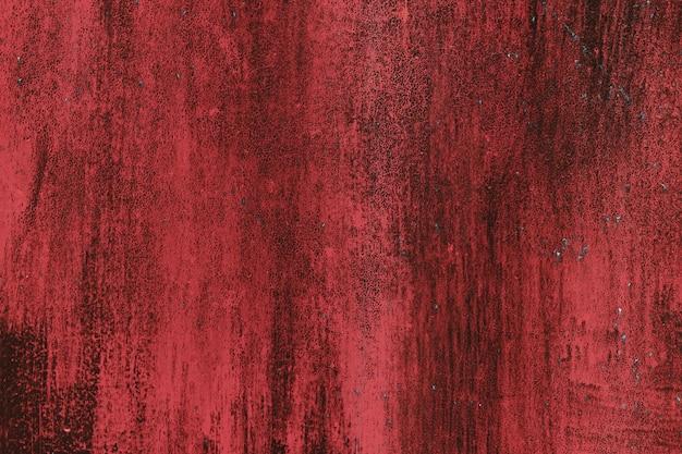 Fondo de textura de hierro rojo grunge, fondo de metal con arañazos