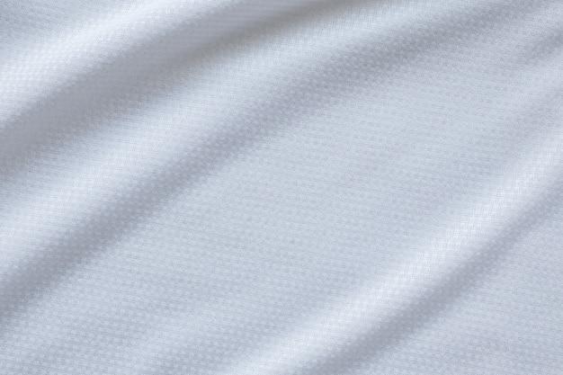 Fondo de textura de jersey de camiseta de fútbol de tela de ropa deportiva blanca