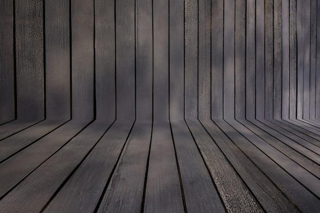 Fondo de textura de madera, pared de madera vintage en perspectiva, fondo grunge