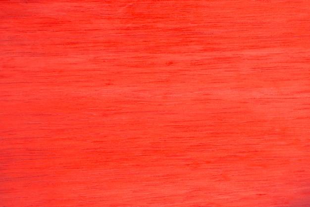 Fondo de textura de madera pintada de rojo.