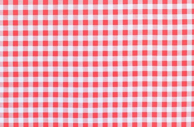 Fondo de textura de mantel a cuadros clásico rojo