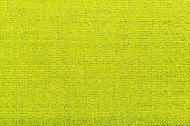 Fondo de textura de material textil de tela de lino natural verde