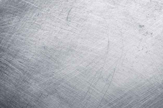Fondo de textura de metal de aluminio con arañazos y pulido.