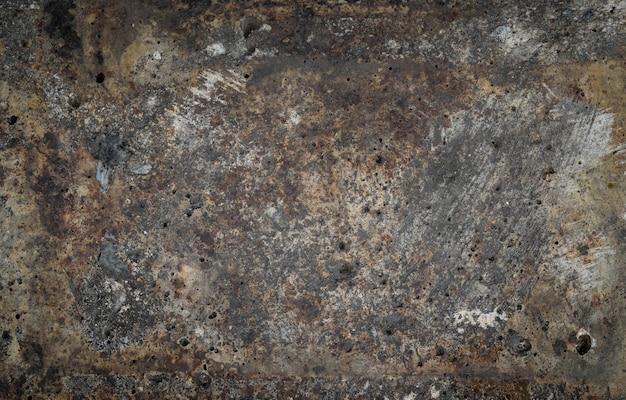 Fondo de textura de metal marrón oxidado