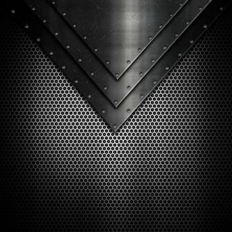 Fondo de textura metalizada