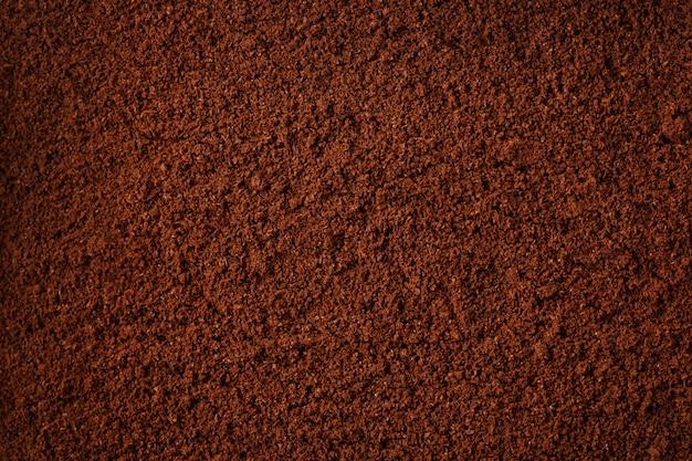 Fondo de textura de molido de café, de cerca