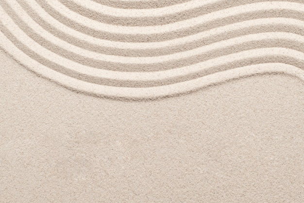 Fondo de textura de naturaleza de onda de arena en concepto de bienestar