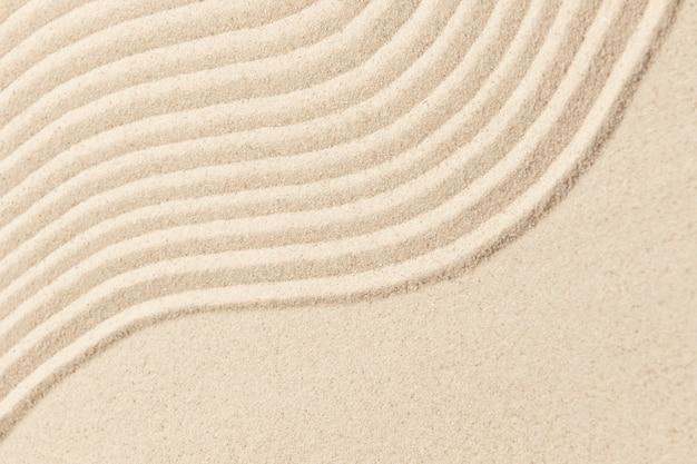 Fondo de textura de onda de arena zen en concepto de salud y bienestar