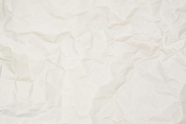Fondo de textura de papel arrugado blanco marrón claro abstracto