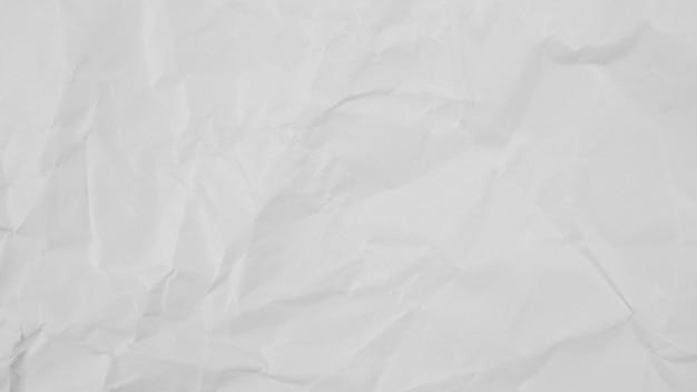 Fondo de textura de papel arrugado blanco