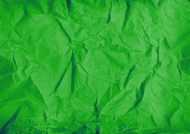 Fondo de textura de papel arrugado verde