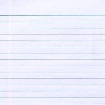 Fondo de textura de papel forrado de cuaderno