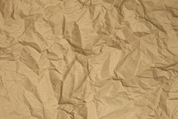 Fondo de textura de papel reciclado marrón arrugado. copia espacio