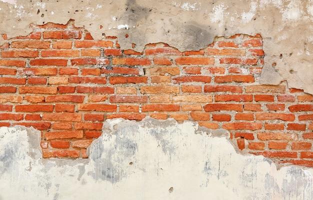 Fondo de la textura de la pared de ladrillo crack