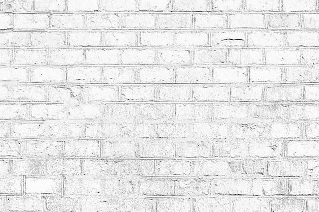 Fondo de textura de pared de ladrillo de grunge de color blanco