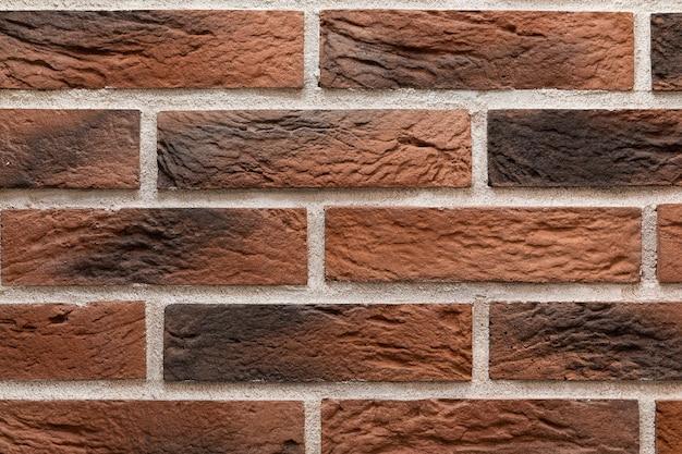 Fondo de textura de pared de ladrillo marrón moderno