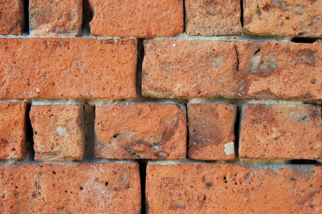 Fondo de textura de pared de ladrillo rojo antiguo