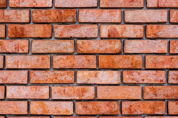 Fondo y textura de la pared de ladrillos rojos