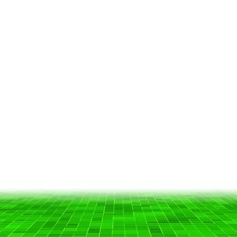 Fondo y textura de la pared del mosaico de la teja del mosaico del pixel cuadrado verde brillante abstracto.