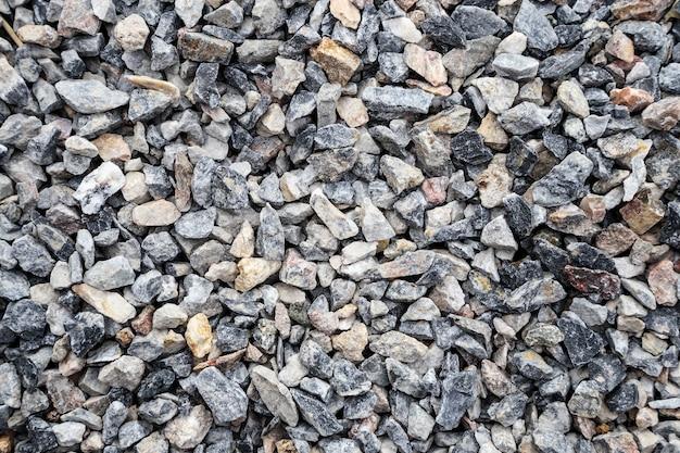 Fondo de textura de piedra en el sitio de construcción