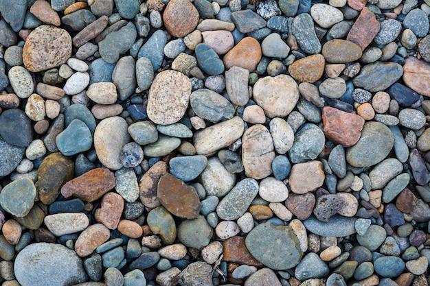 Fondo de textura de piedras de guijarros