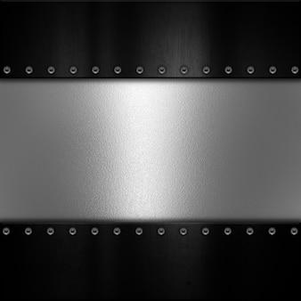 Fondo de textura de placa de metal con remaches