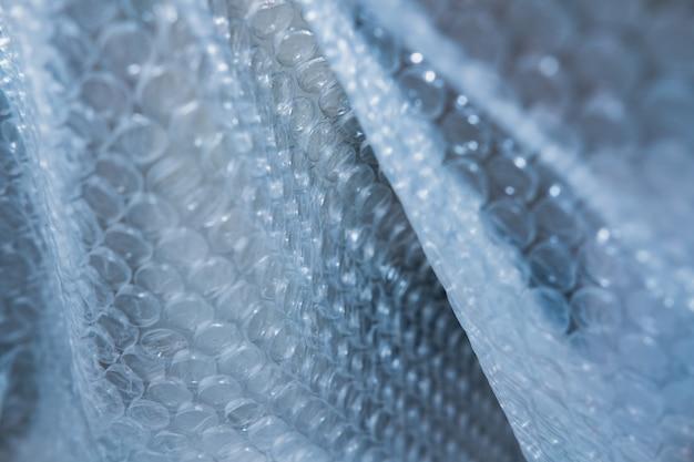 Fondo de textura de plástico de burbujas