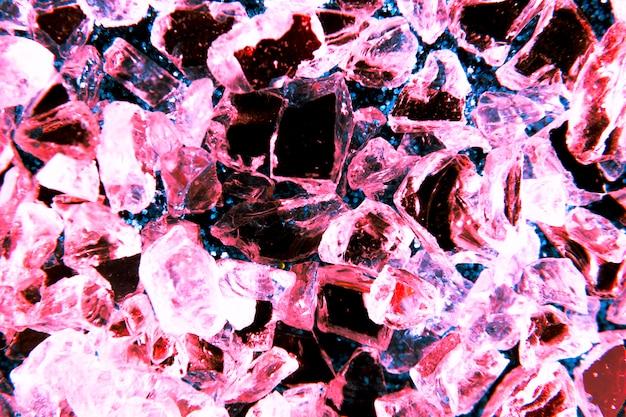 Fondo textura purpurina con cristales