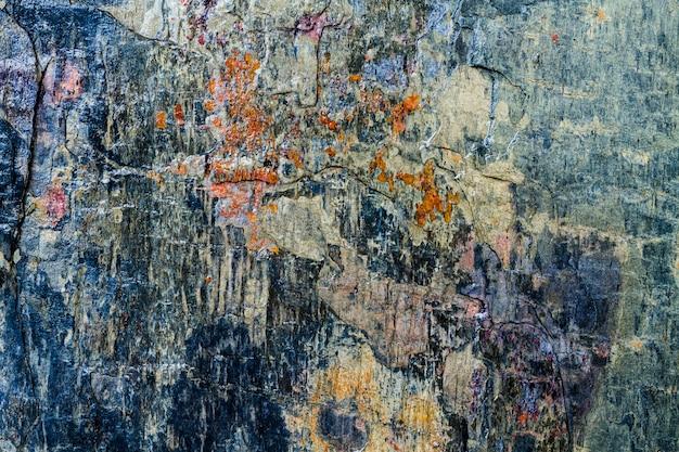 Fondo de textura de roca azul y piedras