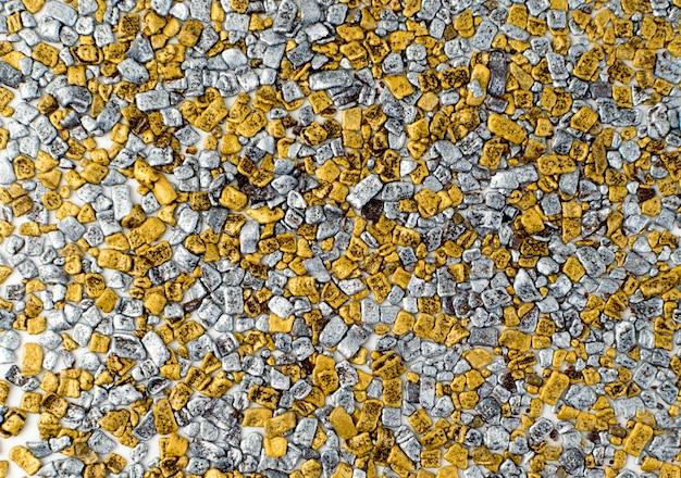 Fondo de textura de salpicaduras de oro y plata