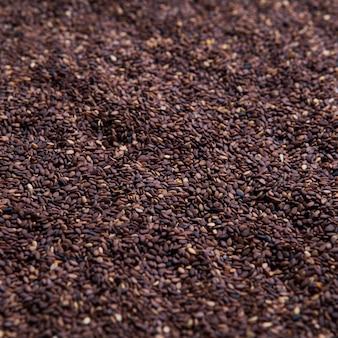Fondo de textura de semillas de sésamo vista superior