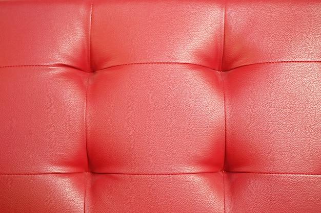 Fondo de textura de sofá de cuero rojo